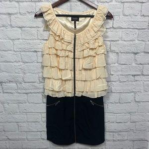 Laundry by Shelli Segal black & Cream silk dress